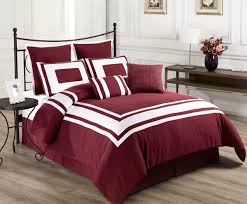Orange And White Comforter Bedding Attractive Maroon Bedding 8 Piece Lux Burnt Orange