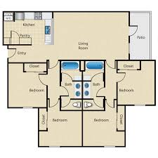 San Remo Floor Plans 4 Bed 2 Bath Apartment In Ames Ia The Madison