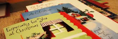 collection of cards mailed for you tree