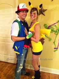 Pikachu Costume Great Pikachu And Ash Couple Halloween Costume Couple Halloween