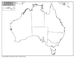outline map of australia with provincial state boundaries by