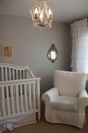 White Nursery Glider Gliding Crib With Drapes Creative Ideas Of Baby Cribs