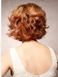 curly and short haircut showing back layered bob hairstyles back view marilyn magic retro wavy bob