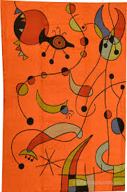 Wool Modern Rugs Miro Rugs Orange Abstract Wall Hangings Accent Carpets