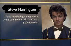 Single Parent Meme - wise words from the best parent in hawkins strangerthings