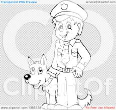 clipart of a cartoon black and white male police officer royalty
