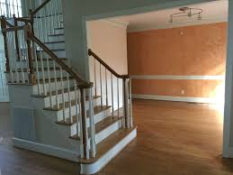 How To Refinish A Banister Carolina Charm Home Tour Staircase Makeover Refinished Hardwoods