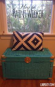 How To Paint Old Furniture by Learn How Easy It Is To Paint Wicker This Is My First Post On