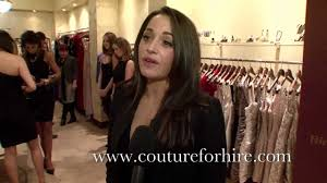 designer dresses for hire at couture for hire youtube
