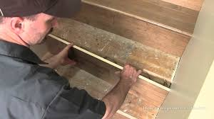 How To Cover Old Concrete by How To Install Hardwood On Stairs Youtube