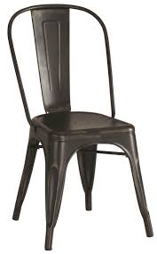 Rustic Wood And Metal Dining Chairs Dining Room Bistro Metal Dining Chairs Carbon Industrial Rustic
