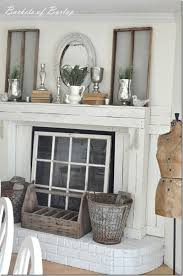 How To Cover Brick Fireplace by The 25 Best Fireplace Cover Ideas On Pinterest Farmhouse