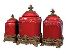 red canisters kitchen decor red large ceramic canister set special order 169 60 home decor