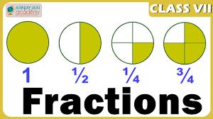 fractions maths class 7 vii isce cbse ncert youtube