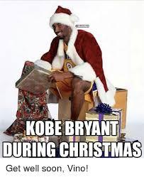 Meme Get Well Soon - nba humor kobe bryant during christmas get well soon vino