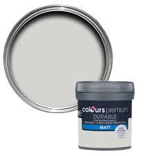 colours durable grey hints matt emulsion paint 0 05l tester pot