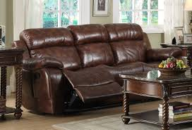 Leather Recliner Chair With Cup Holder Homelegance Marille Double Reclining Sofa With Center Drop Down