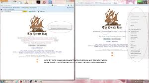 the pirate bay page and links not working on firefox firefox