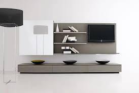 Wood Furniture Design Tv Table Contemporary Tv Wall Unit Glass Lacquered Wood Modular Pab