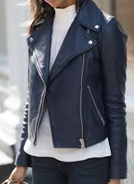 blue motorcycle jacket navy leather jacket blogger style vr x love pinterest