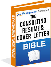 Coverletter For Resume The Consulting Resume U0026 Cover Letter Bible Management Consulted