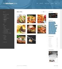 site de recette cuisine the kitchen table un thème pour site web de recettes
