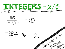 showme multiplying and dividing integers steps
