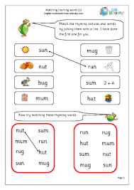 cvc and rhyming words