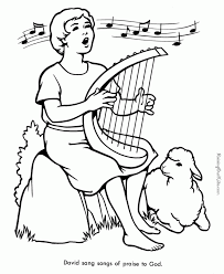 92 coloring page of shepherd boy sheep and shepherd