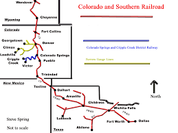 Colorado Springs Co Map by Colorado And Southern Railway Wikipedia