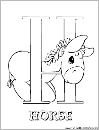 25 alphabet coloring pages for children at h is horse page eson me