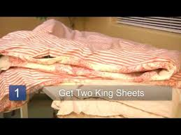 Diy King Duvet Cover How To Make A King Size Duvet Cover Youtube