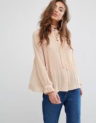 pleated blouse miss selfridge miss selfridge pleated blouse