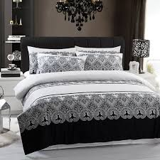 black and white duvet sets uk for attractive property black and