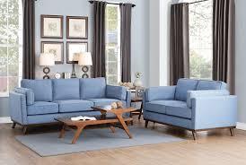 Fabric Modern Sofa Blue Mid Century Modern Sofa