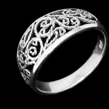 rings silver bands images Intricate silver filigree ring silver surfers jpg