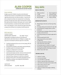 Executive Resume Template by Administrative Assistant Resume Template Free 10 Executive