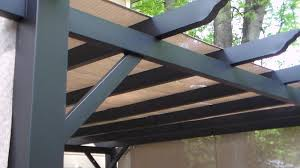 Metal Pergolas With Canopy by Pergola With Canopy Set Up Project Youtube