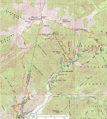 Topographic Map Of Michigan by Dan U0027s Hiking Pages Mt Baldy Via Old Mt Baldy Trail
