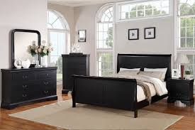 poundex f9231 louis philippe sleigh bedroom set