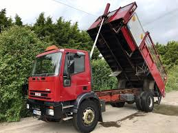 iveco ford cargo tipper 18 ton steel body manual strong truck no