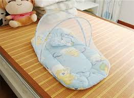 Bed Crib Infant Cushion Mattress Pillow Bedding Crib Netting Set Portable