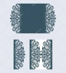 Laser Cut Invitation Cards Beautiful Laser Cut Invitation Card With Lace For Wedding U2014 Stock