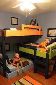 excellent plans for triple bunk beds photo design inspiration