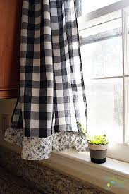 Black Check Curtains Cool Black Check Curtains Decorating With Curtain Black And White