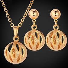 platinum plated necklace images Elegant ball 18k gold platinum plated necklace earrings jewelry jpg
