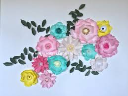paper flowers for home baby nursery room wall decor wedding party