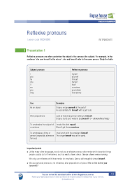 reflexive pronoun worksheet the best and most comprehensive