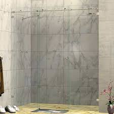 Sliding Shower Screen Doors 1740 1785 X 2000h Three Panel Wall To Wall Sliding Door Frameless