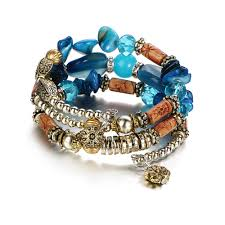fashion stone bracelet images Boho multilayer blue resin stone bracelet twentykit fashion store jpg